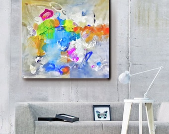 Modern Art Abstract Painting, Original Painting Canvas Art, Abstract Painting Canvas Art, Living Room Art, Large Abstract Painting, Wall Art