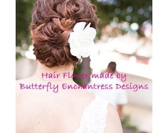 Bridal Hair Flower, Wedding Accessories, Woodland Wedding - Ivory Gwyneth Gardenia Bridal Hair Flower Clip