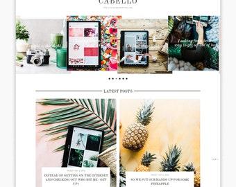NEW!!! CABELLO | Responsive Minimalist Premade Blogger Template