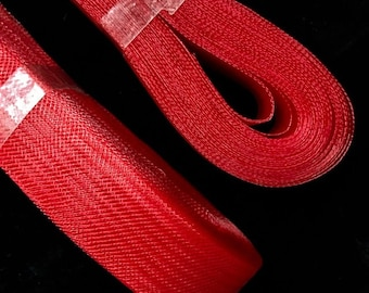 """1"""" Inch Polyester Horsehair Braid, Selling Per Roll/22yards Red"""