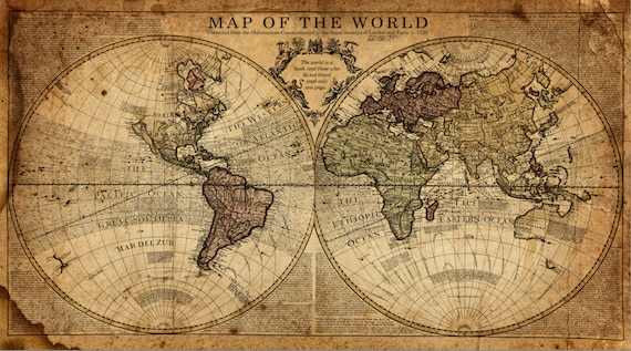 Globe tan map world map canvas vintage map set large wall gumiabroncs Image collections