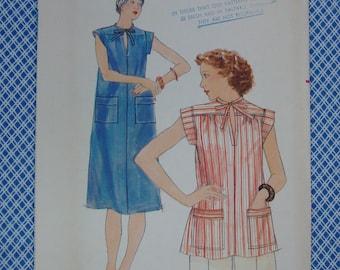 Vintage Butterick Pattern c.1960's Dress and Blouse, Size Medium, Uncut