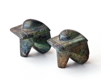 Abstract Figurine Metal Sculpture, Greek Art Sculpture, Abstract Cycladic Museum Replica, Home Decor Geometric Art, Prehistoric Hellenic Art