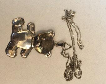 Silver Teddybear Necklace