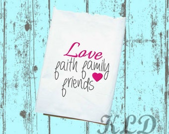 Love, Faith, Family, Friends embroidery design. PES. Instant Download. {KLD001}