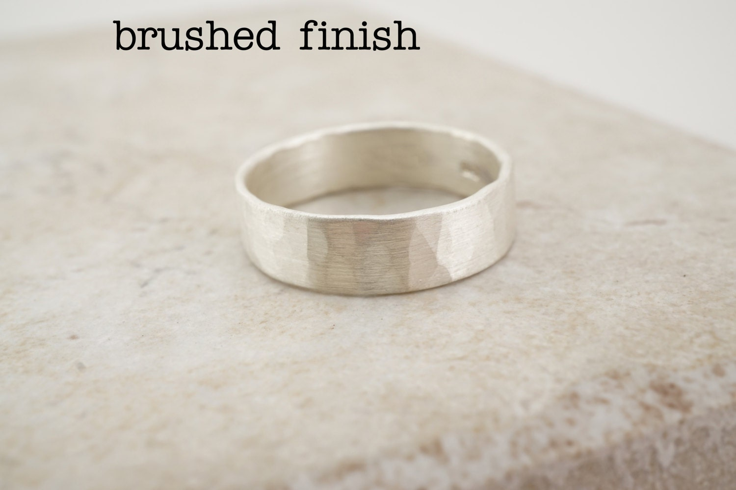 Hammered Sterling Silver Ring Sterling Silver Ring Band Sterling