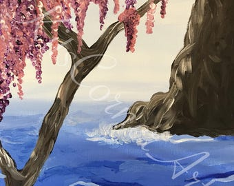 Weeping Cherry at the Ocean's Edge