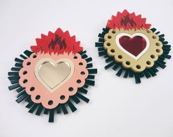 Sacred Heart | Ex Voto Brooch | Plexiglass Brooch Handmade in Italy with Love by Plexiglass Shock