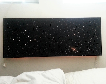 NIGHT SKY Light-Up Painting w/ Personalized Constellations