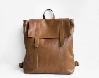 Sac à dos en Chestnut Brown en cuir / sac à dos en cuir sac à main en cuir sac à main en cuir marron / grand sac à dos / marron sac à dos / sac à dos unisexe