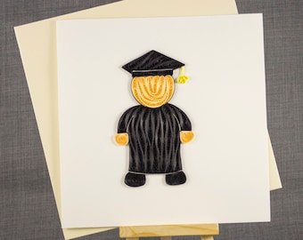 3D Handmade Card  Quilling Card Quilled Graduation Card Paper Quilling