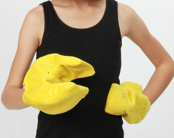 Yellow toy character hands