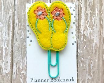 Flip Flops Feltie Planner Clip Summer Feltie Paperclip Bookmark, Beach Paper clip Planner Accessory, Journaling Supplies, Gift for Girls