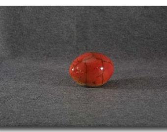 Red Raku Egg