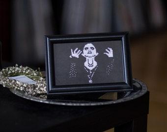 darkthrone Crossstitch Embroidery holy Mayhem blackmetal norway corpse paint frame