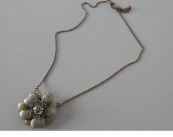 Vintage Floral Necklace on fine chain