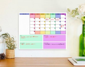 2018 Calendar Printable, Letter Size Printable Calendar, 2018 Wall Calendar, DIY Printable, Instant Download, Digital Print