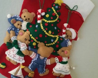 Hand sewn Christmas stocking