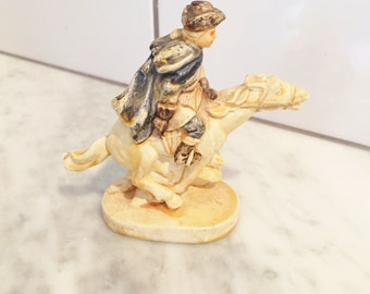 Paul Revere Figurine, Sebastian Miniature, Paul Revere's Ride, Colonial Decor, July Fourth Decor,