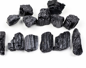 Black Tourmaline, Raw Tourmaline, Raw Black Tourmaline, Tourmaline, raw black crystal, black crystal, healing crystal, wire wrapping