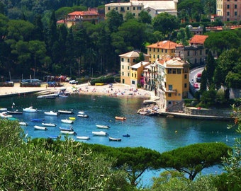 Travel Photography - Portofino Harbour - Italy - Italian, European, Landscape, Nature, Nautical, Architectural, Fine Art Photography