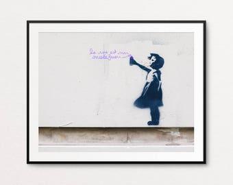 Paris Graffiti Photo - Paris Street Art Photo, Paris Photography, Paris Print, Street Photography, Paris Decor, Paris Graffiti Print