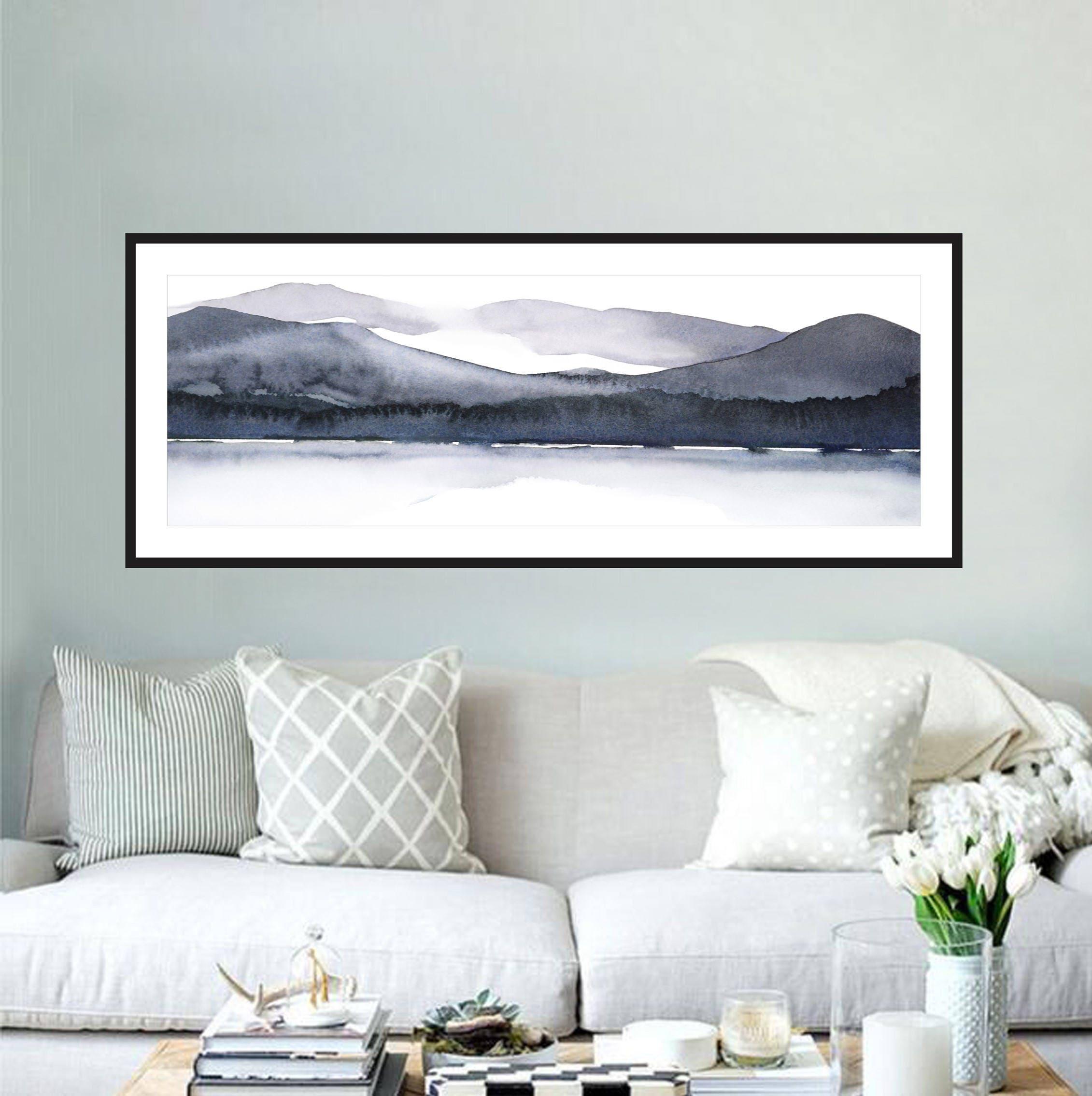 Große Landschaft Aquarell Druck 12 x 36 Zoll oder 8 x 24