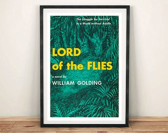 LORD Of The FLIES POSTER: Vintage Golding Book Cover Art Print