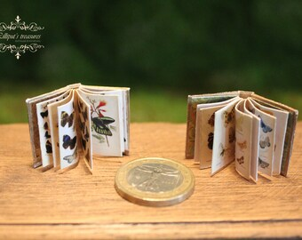 PDF Instant download 2  butterflies  books - miniature dollhouse  scale 1:12