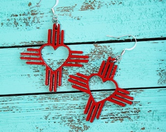 Zia Heart Earrings