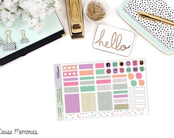 Sweet, Sweet Succulents - B6 MONTHLY KIT - Paper Planner Stickers