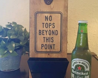 Wall Mounted Bottle Opener and Cap Catcher - Funny Beer Signs - Gift Ideas -  Fathers Day
