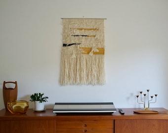 Hand woven wall hanging weaving  - 'Cirro' fibre art / textile art / fiber art / tapestry / wall art / large