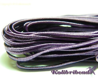 3m Czech Soutache Braid 3 mm Purple - (multiple amounts cut as 1 piece