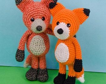 Flynn the Fox Amigurumi - PDF Crochet Pattern - Instant Download - Amigurumi crochet Cuddy Stuff Plush
