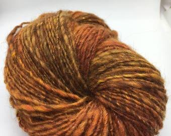 Hand Spun and Dyed Merino & Angelina 2ply Yarn