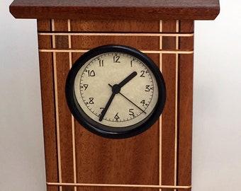 Arts and Crafts Style Mahogany Clock
