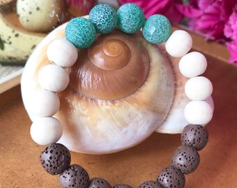 Mocha Lava Stone Diffuser Bracelet