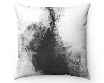 Black & White Decorative Throw Pillow Cover, Modern Home Decor, Accent Pillows, Pillow Covers 20x20, Abstract Art Pillow, Couch Pillows