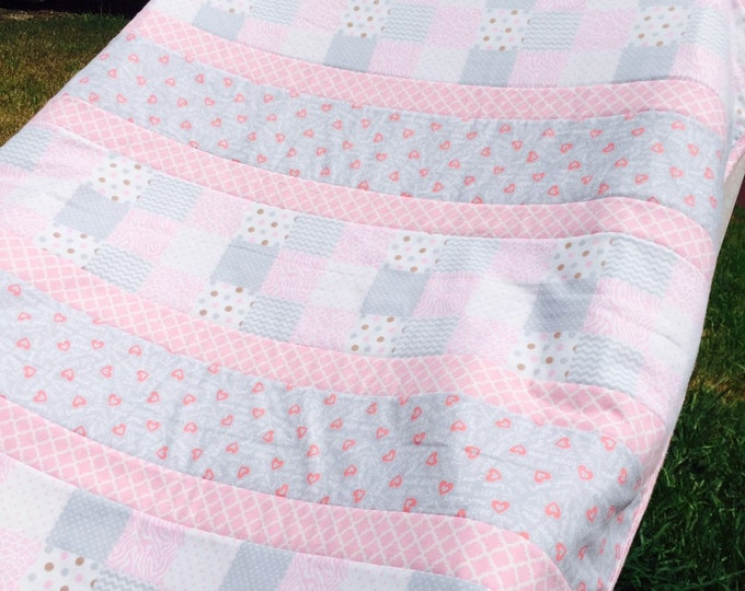 SALE - Girl's Baby Quilt - SALE