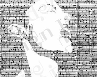 Billie Holiday Music Print