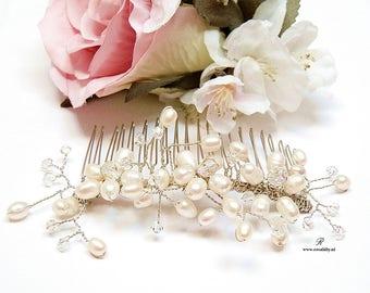 Pearl Bridal Hair Comb, Bridal fresh water pearl hair comb, Bridal Hair Jewelry, Pearl Hair Comb, Wedding Hair Comb, Wedding Hair accessory