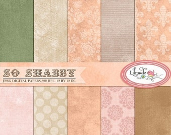 50%OFF Shabby digital paper, vintage digital paper, vintage backgrounds, photo textures, commercial use, instant download, P203