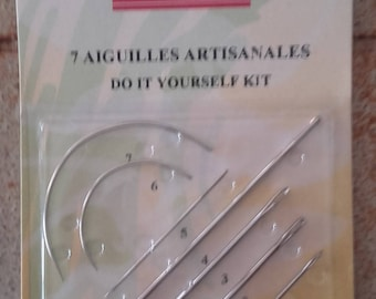 ASSORTED NEEDLES craft Decoration and DIY Pack of 7 needles