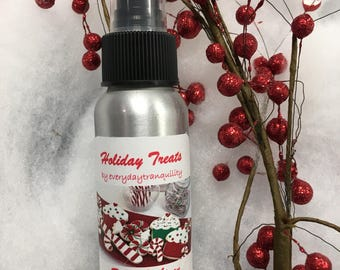 Room and linen spray, sweet, christmas spray, air freshener, room spritz, home fragrance, essential oil, all natural, 3 oz, Christmas