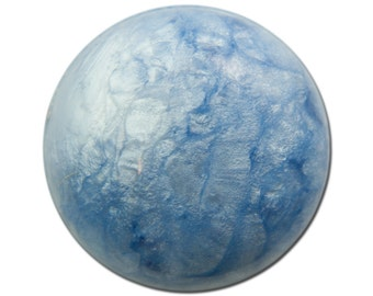 Vintage Acrylic Blue Crackle Like Cabochon 24mm (2) cab783