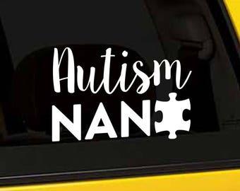 Autism Decal, Autism Gift, Autism Nana, Puzzle Piece Vinyl Sticker