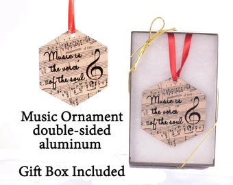 Music is the Voice of the Soul - Music Ornament - 2 sided