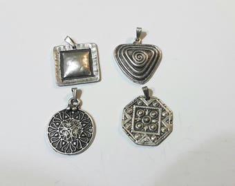 Silver Pendant, Ethnic Silver Pendant, Gypsy Pendant, Silver Jewelry, Ethnic Jewelry, Gypsy Jewelry, Silver Tribal Pendant