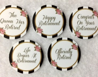 Set of 50/100/150/200 Personalized Retirement  1 Inch Circle Confetti